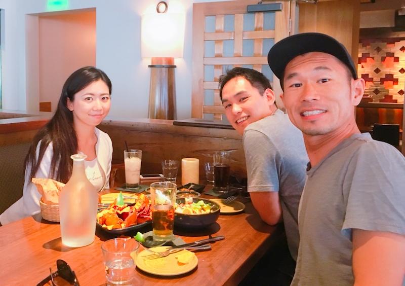 番組制作メンバー:Saori, Taisuke, Mitsu (写真:左から)